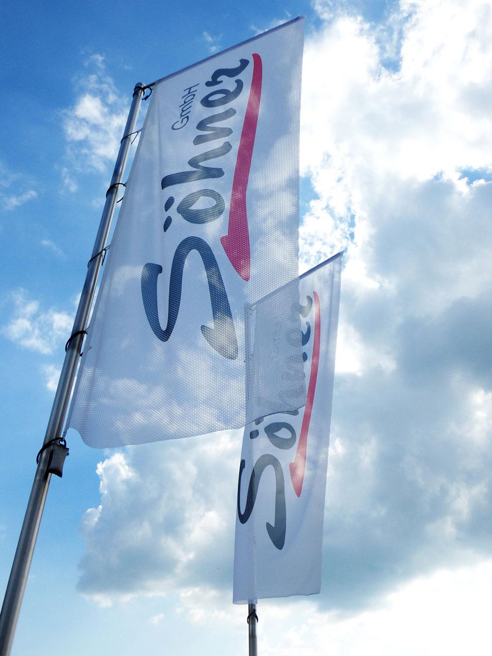 Flagge-Sohner-Werbung